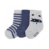 Tex Baby - 3 paires de chaussettes - Gris chiné - 0 à 15 mois