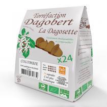 Les cafés Dagobert - Dagosette Colombie bio et Fair for life- 24 capsules
