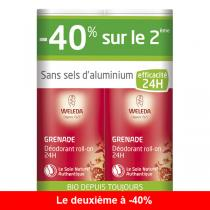 Weleda - Lot de 2 x Déodorant roll-on 24H Grenade - 50 mL