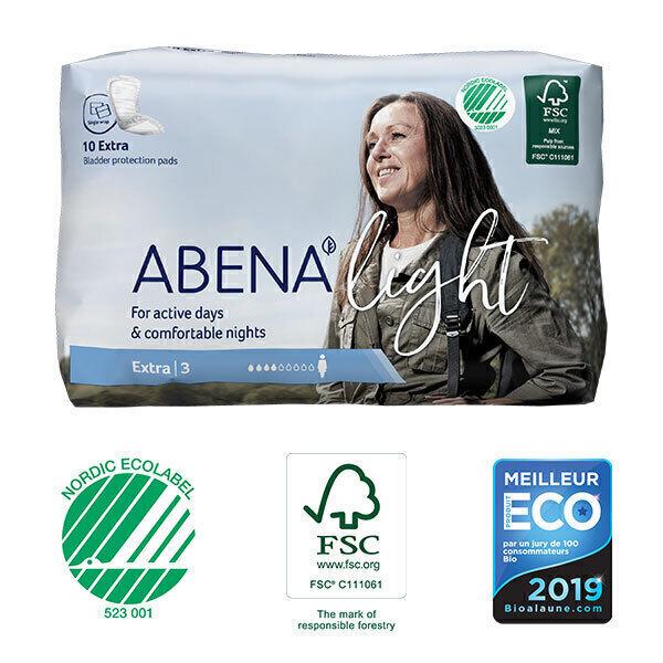 Abena - 10 Protections anatomiques Femme Light Extra 3