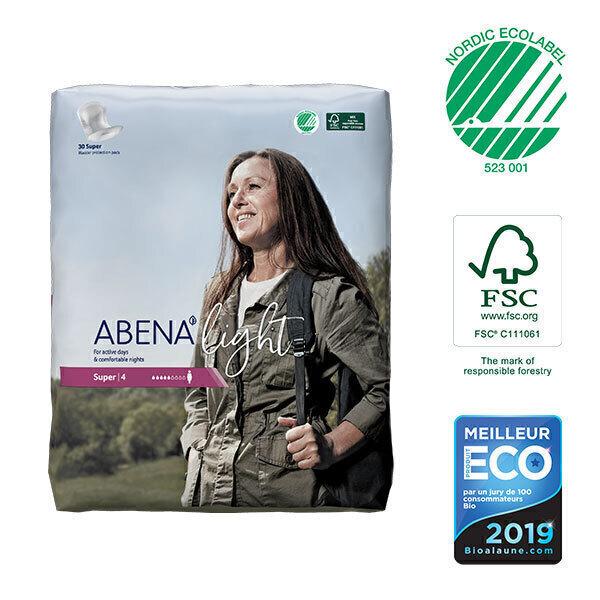 Abena - 30 Protections anatomiques Femme Light Super 4