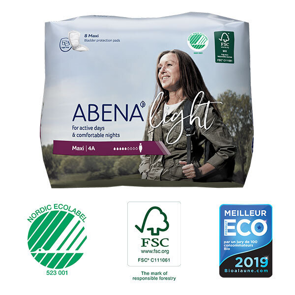 Abena - 8 Protections anatomiques Femme Light Maxi 4A