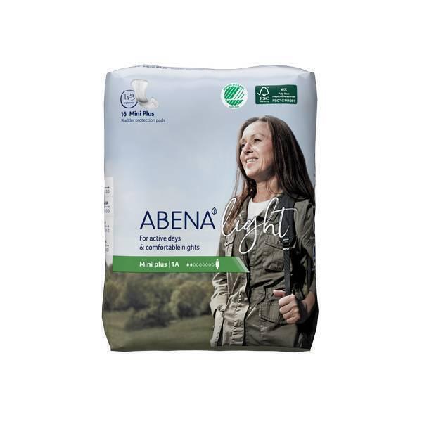 Abena - 16 Protections anatomiques Light Mini Plus 1A - 200ml - 8,2x20cm