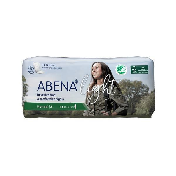 Abena - 12 Protections anatomiques Light Normal 2 - 350 ml - 11x26cm