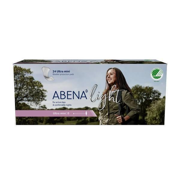 Abena - 24 Protections anatomiques Light Ultra Mini - 100 ml - 8,2x20cm
