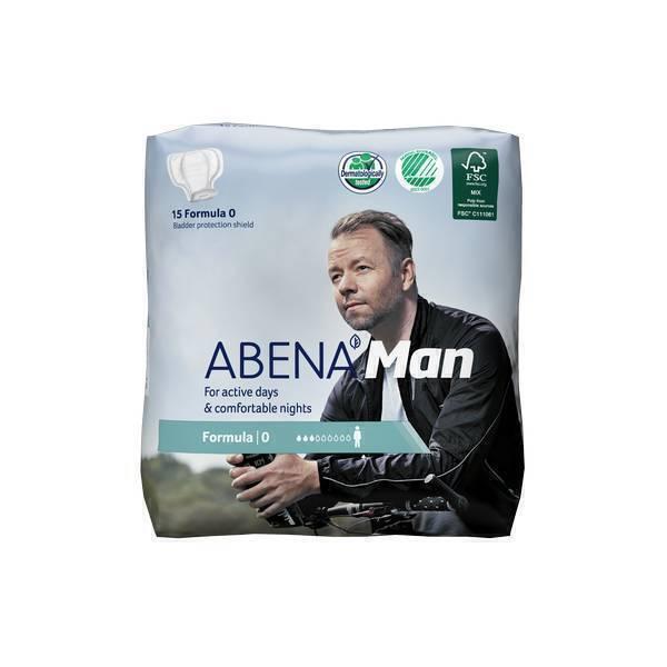 Abena - 15 Protections urinaires Man Formula 0 - 250 ml - 22,4x19 cm