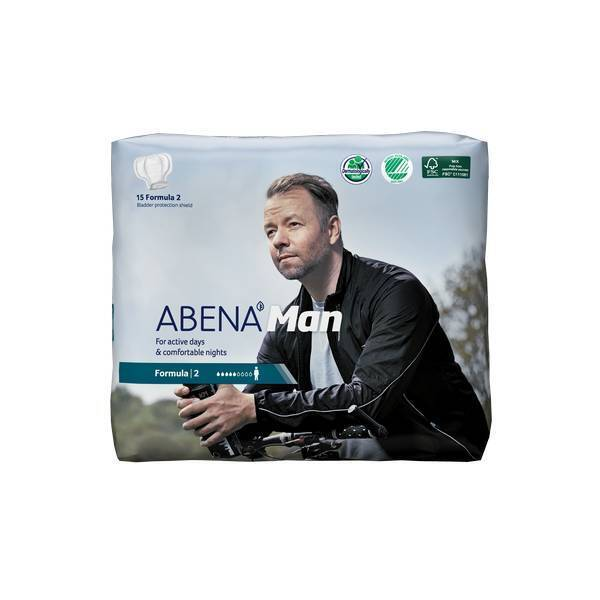 Abena - 15 Protections urinaires Man Formula 2 - 700 ml - 23x29cm