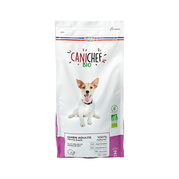 Canichef - Croquettes bio sans céréales petit chien 2kg