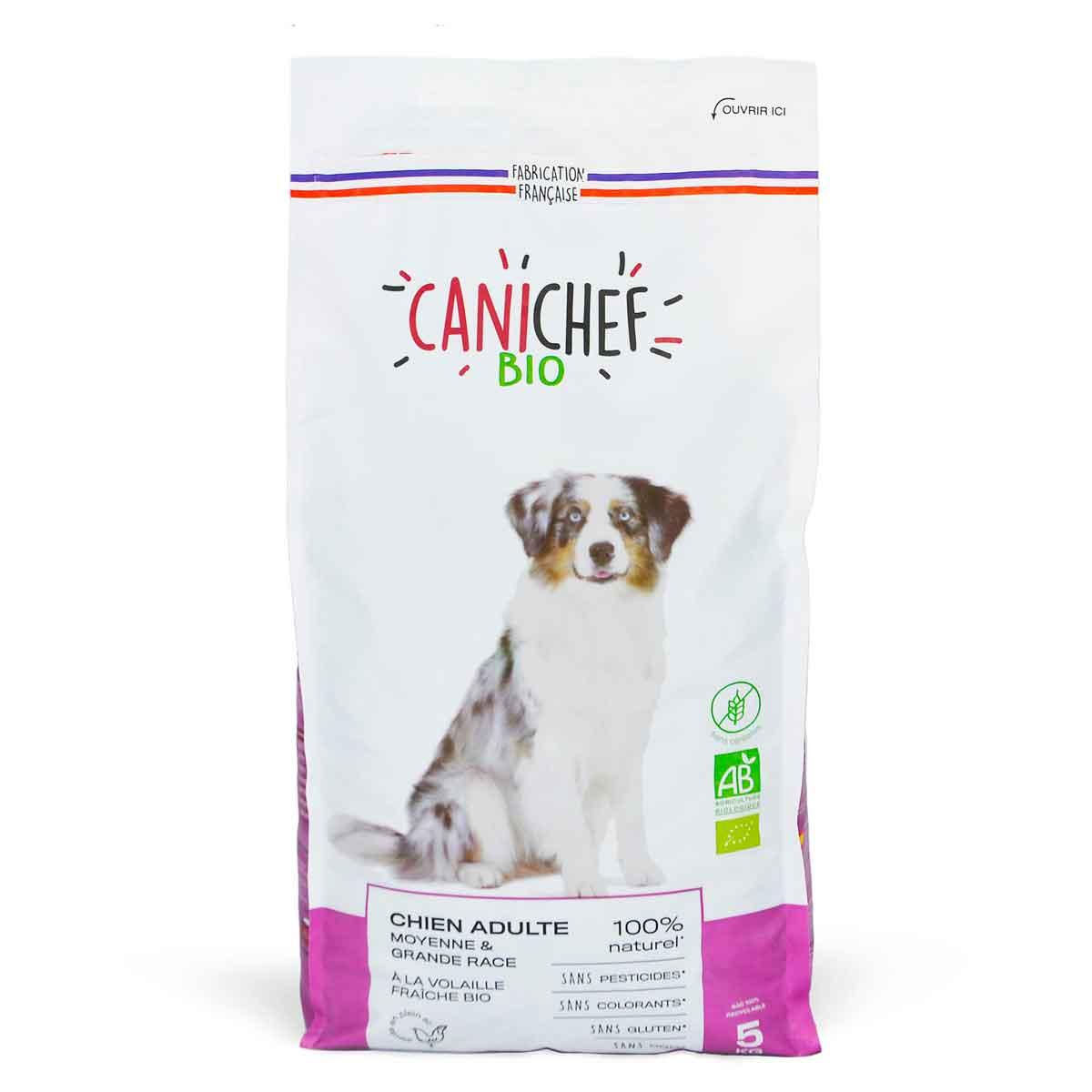 Canichef - Croquettes sans céréales chien adulte Volaille 5kg