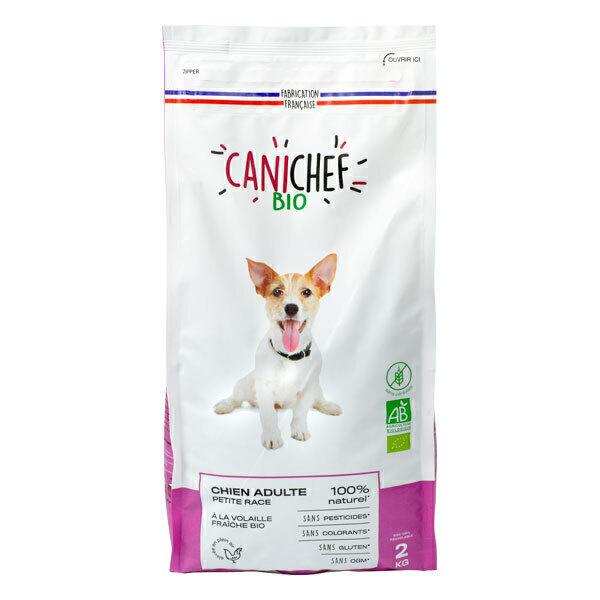 Canichef - Croquettes sans céréales chien petite race Volaille 2kg