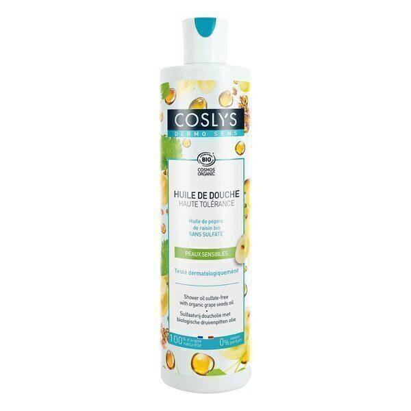 Coslys - Huile de douche Pépins de raisin bio sans sulfate - 380 ml