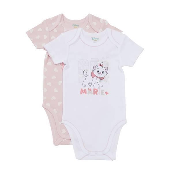 Disney Baby - 2 Bodies Manches courtes - Marie - 3 à 36 mois