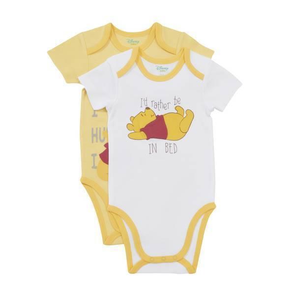 Disney Baby - 2 Bodies Manches Courtes - Jaune Winnie - 3 à 36 mois