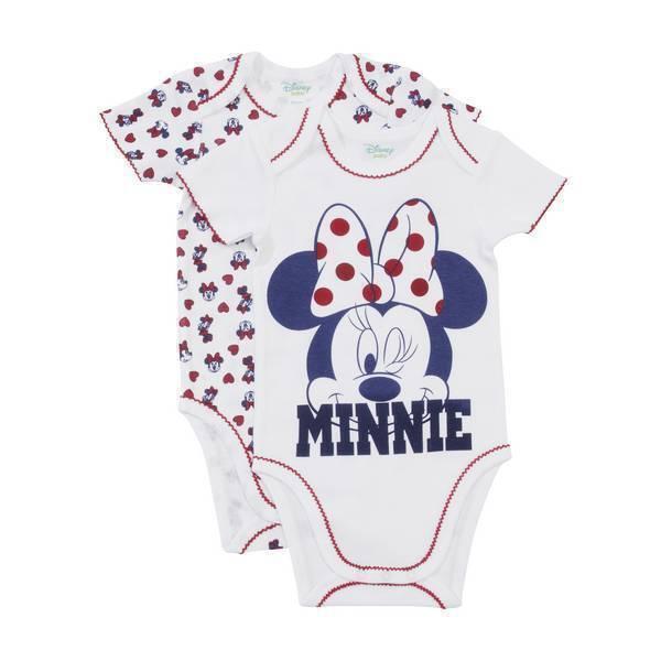 Disney Baby - 2 Bodies Manches courtes - Minnie - 3 à 36 mois