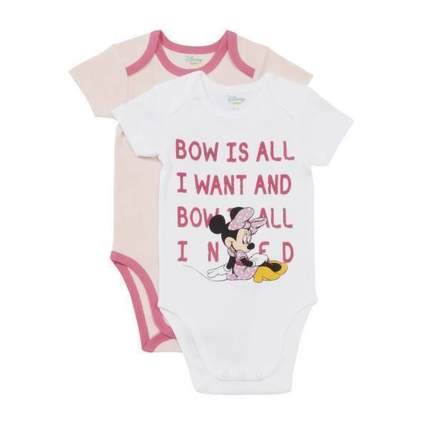 Disney Baby - 2 Bodies Manches courtes - Minnie Daisy - 3 à 36 mois
