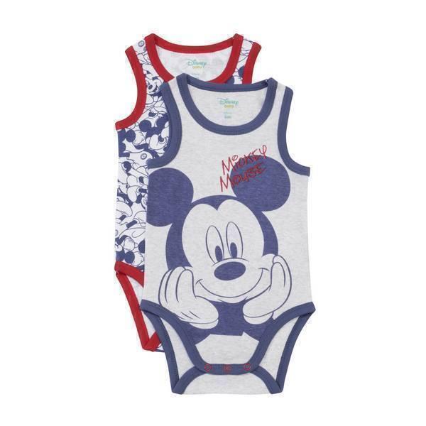 Disney Baby - 2 Bodies Sans Manches - Mickey - 3 à 36 mois