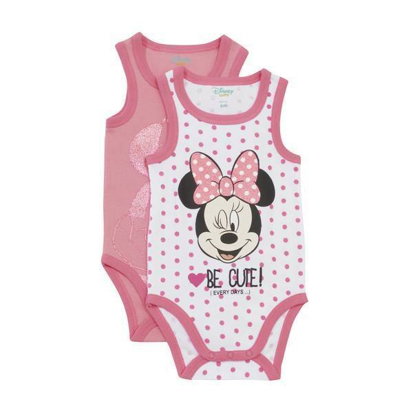 Disney Baby - 2 Bodies Sans Manches - Minnie - 3 à 36 mois