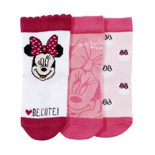 Disney Baby - 3 paires de chaussettes Minnie - Rose foncé - 0 à 36 mois