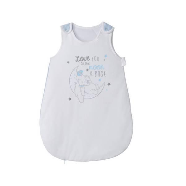 gigoteuse blanche et bleue dumbo 0 6 mois disney baby la r f rence bien. Black Bedroom Furniture Sets. Home Design Ideas