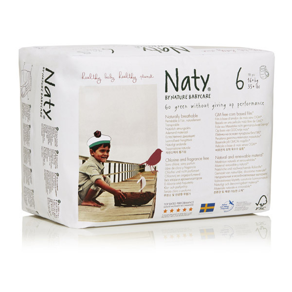 Eco by Naty - Lot 6 x 18 Culottes d'apprentissage XL 16 kg +