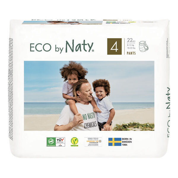 Eco by Naty - Pack 4x22 Culottes apprentissage Jetables T4 8-15 kg