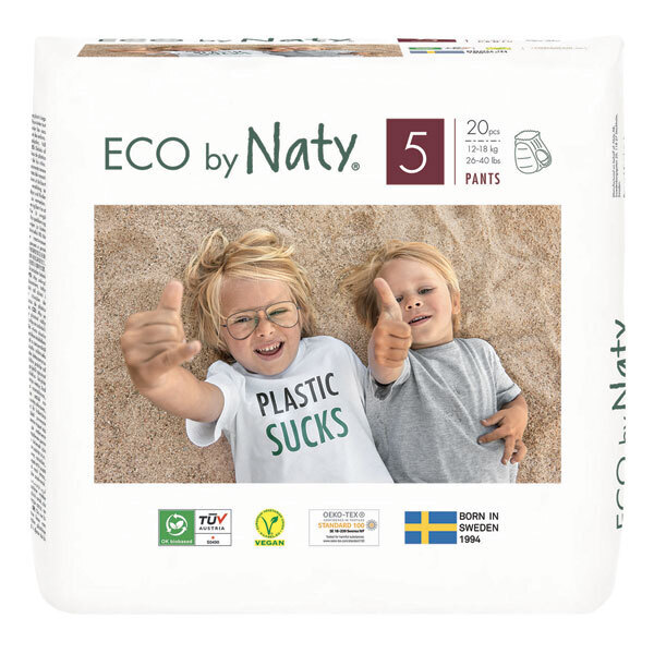 Eco by Naty - Pack 8x20 Culottes apprentissage Jetables T5 12-18kg