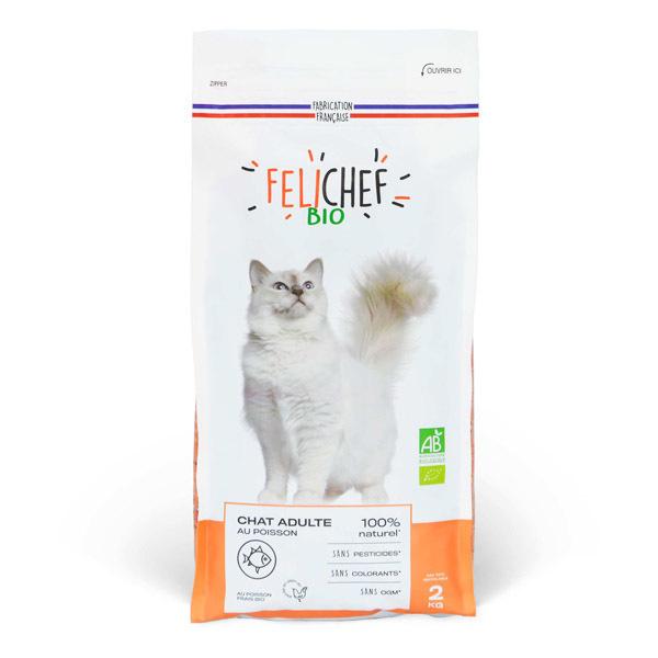Felichef - Croquettes pour chat adulte Poisson 2kg