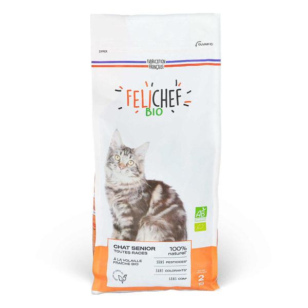Felichef - Croquettes pour chat senior Volaille 2kg