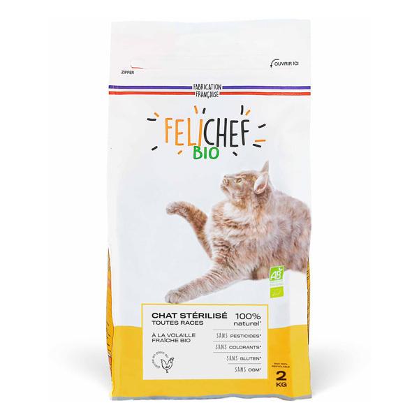 Felichef - Croquettes pour chat stérilisé Volaille 2kg