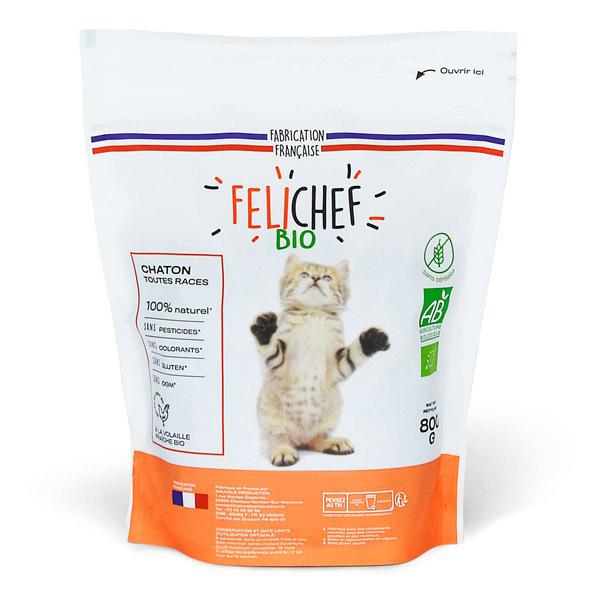 Felichef - Croquettes sans céréales chaton Volaille 800g