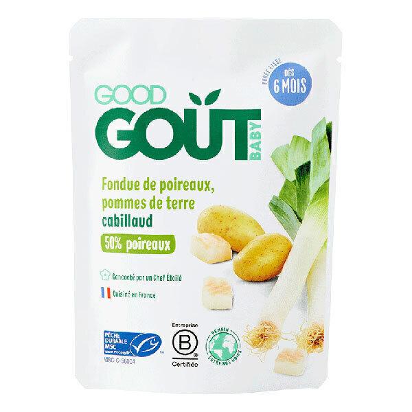 Good Gout - Fondue de Poireaux Pomme de Terre Cabillaud dès 6 mois - 190g