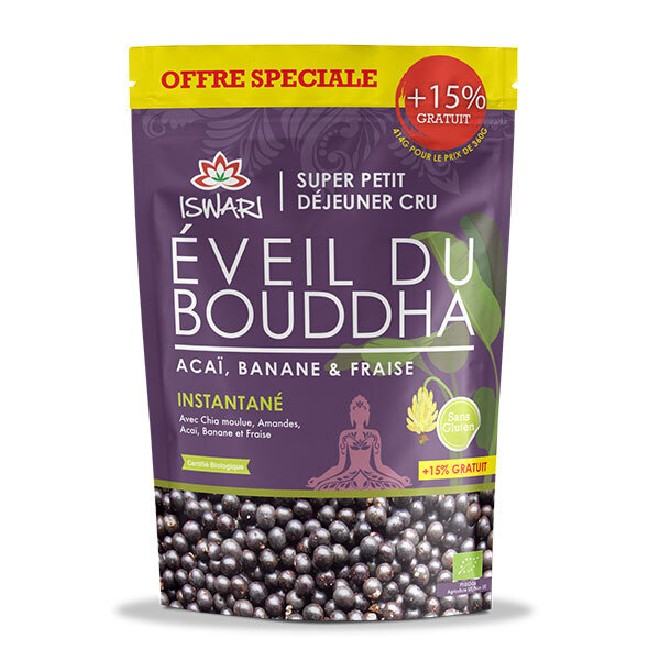 Iswari - Eveil du Bouddha Açaï Fraise Banane - Offre Spéciale 15% OFFERT