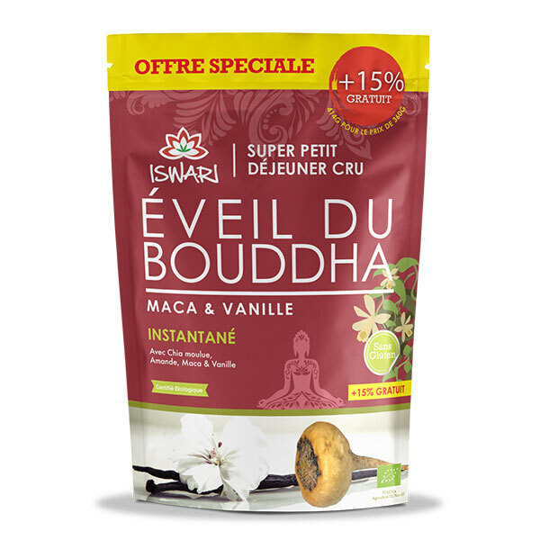 Iswari - Eveil du Bouddha Maca Vanille - Offre Spéciale 15% OFFERT