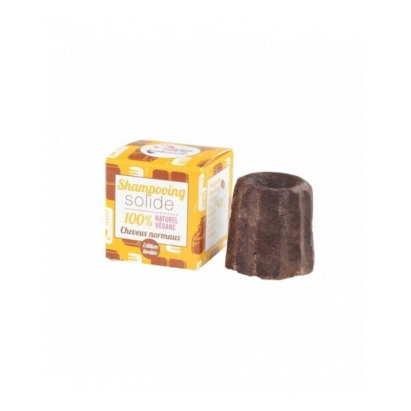 Lamazuna - Shampooing solide Cheveux normaux Chocolat 55g
