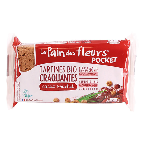 Le pain des fleurs - Tartines craquantes Cacao Souchet Pocket - 4 tartines