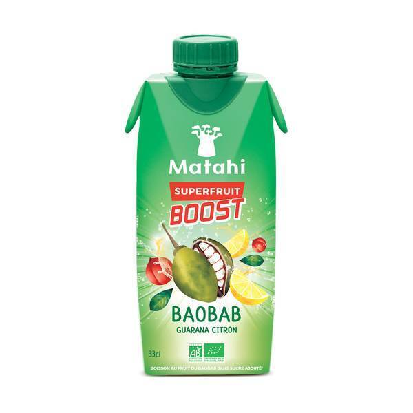 Matahi - Jus de Baobab Guarana Citron 330 mL
