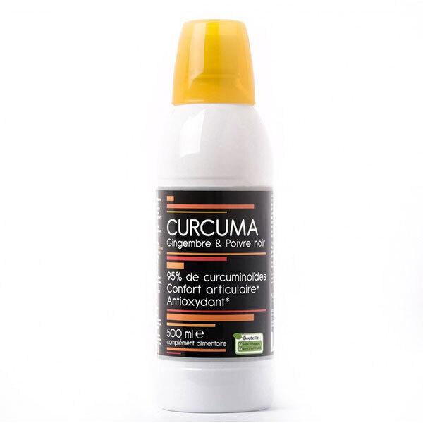NutriVie - Lot de 2 x Curcuma, Gingembre & Poivre Noir - 2 x 500mL