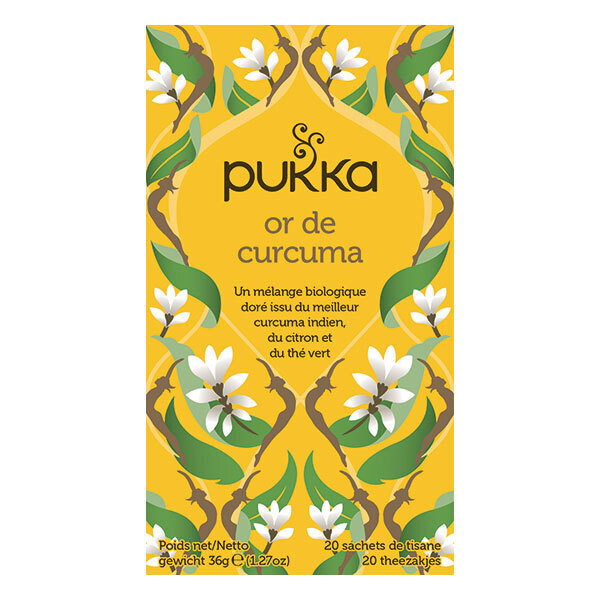 Pukka - Tisane Or de curcuma bio - 20 sachets