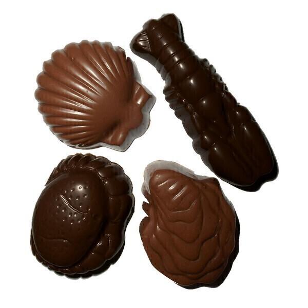 Saveurs & Nature - Figurines chocolat noir et lait pralinés 100g