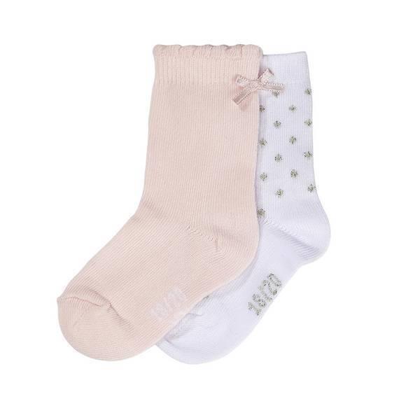 Tex Baby - 2 Paires de Socquettes de cérémonie - Rose - 0 à 36 mois