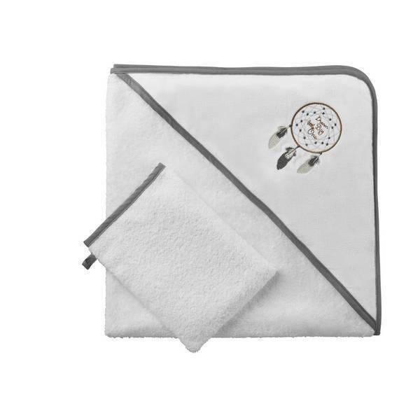 parure de bain blanc attrape r ve tex baby natiloo. Black Bedroom Furniture Sets. Home Design Ideas