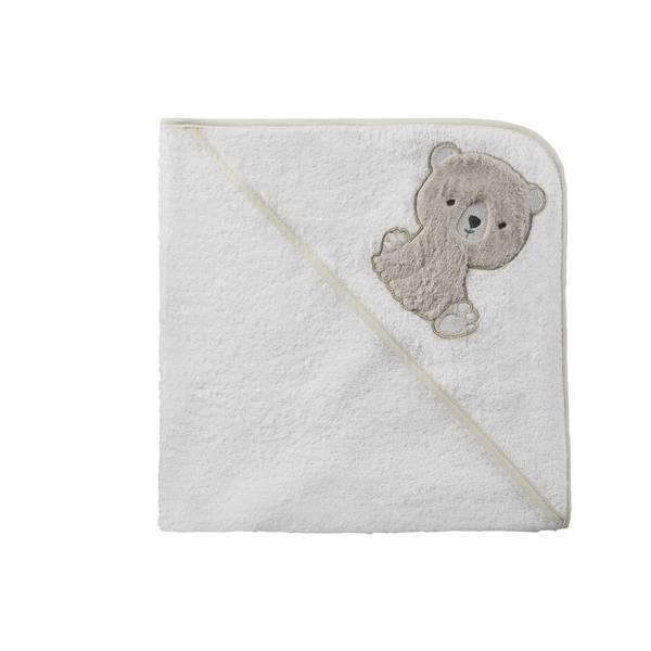 cape de bain blanc ourson tex baby la. Black Bedroom Furniture Sets. Home Design Ideas