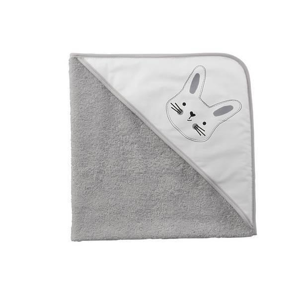 cape de bain gris lapin tex baby la. Black Bedroom Furniture Sets. Home Design Ideas