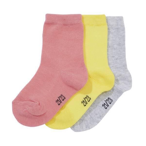 Tex Baby - 3 Paires de Chaussettes unies - Jaune - 0 à 36 mois