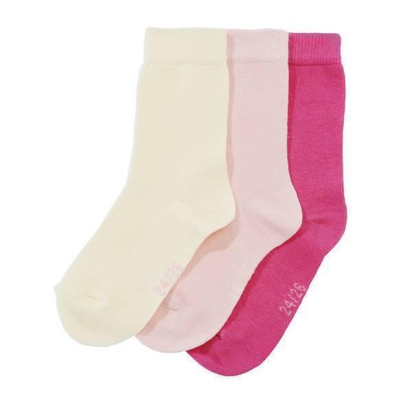 Tex Baby - 3 Paires de Chaussettes unies - Rose - 0 à 36 mois