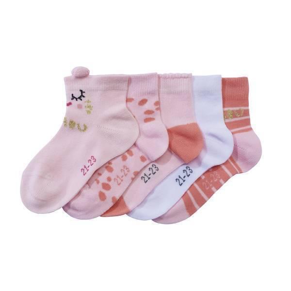 Tex Baby - 5 Paires de Chaussettes fantaisies - Chaton - 0 à 36 mois
