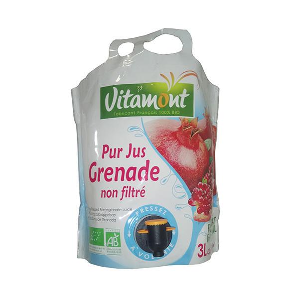 Vitamont - Pur jus Grenade non filtré bio - 3 l