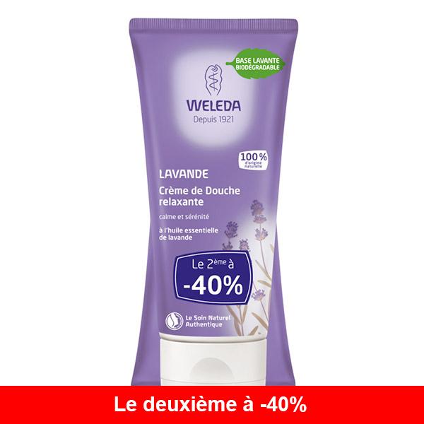Weleda - Lot de 2 x Crème de douche à la Lavande 200ml