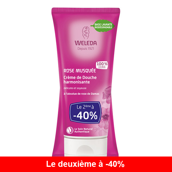 Weleda - Lot de 2x crème douche à la rose 200ml