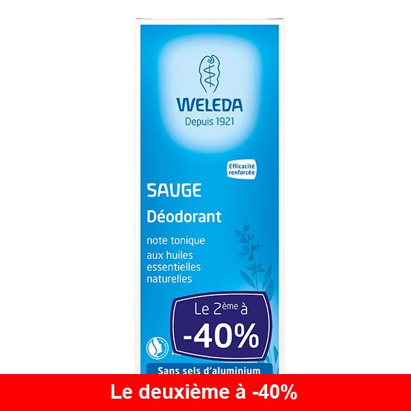 Weleda - Lot de 2x déodorant à la sauge 100ml
